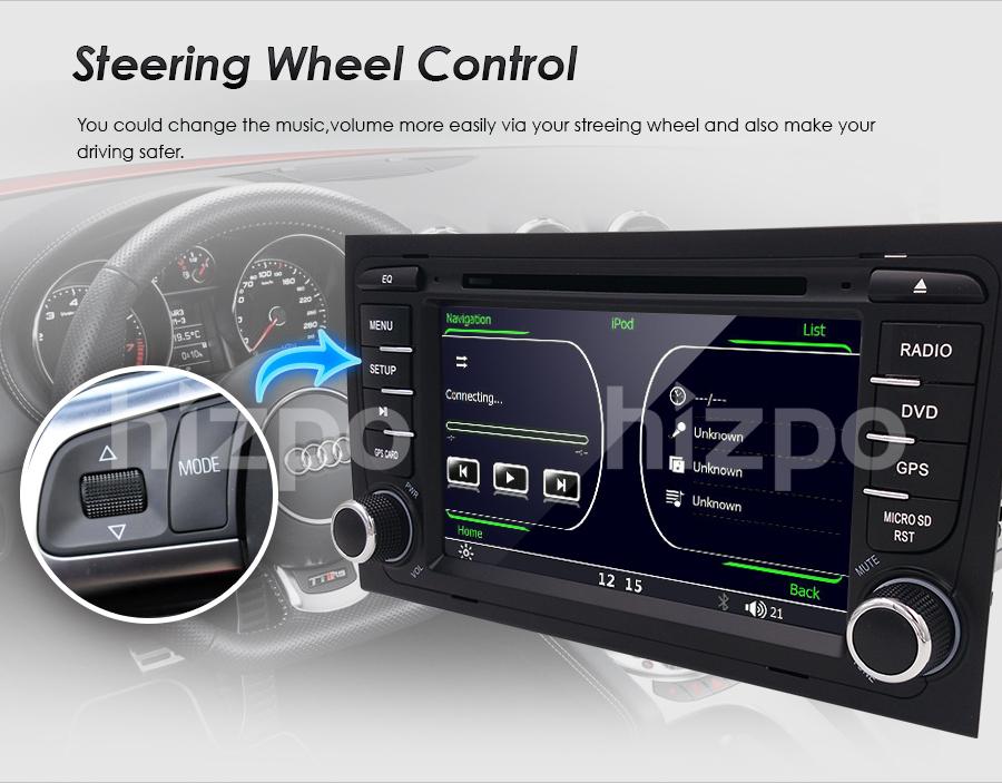 7 car gps dvd player navigation stereo radio for audi a4. Black Bedroom Furniture Sets. Home Design Ideas