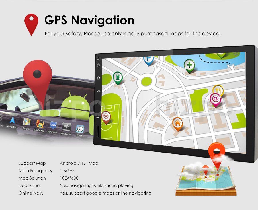 In dash android 71 wifi 4g bt tpms 72din car radio stereo player power supply dc 12v allowance range 108 145v max current 10a screen size 7 inch front panel size 176mmtop width102mmhigh176mmbottom fandeluxe Images