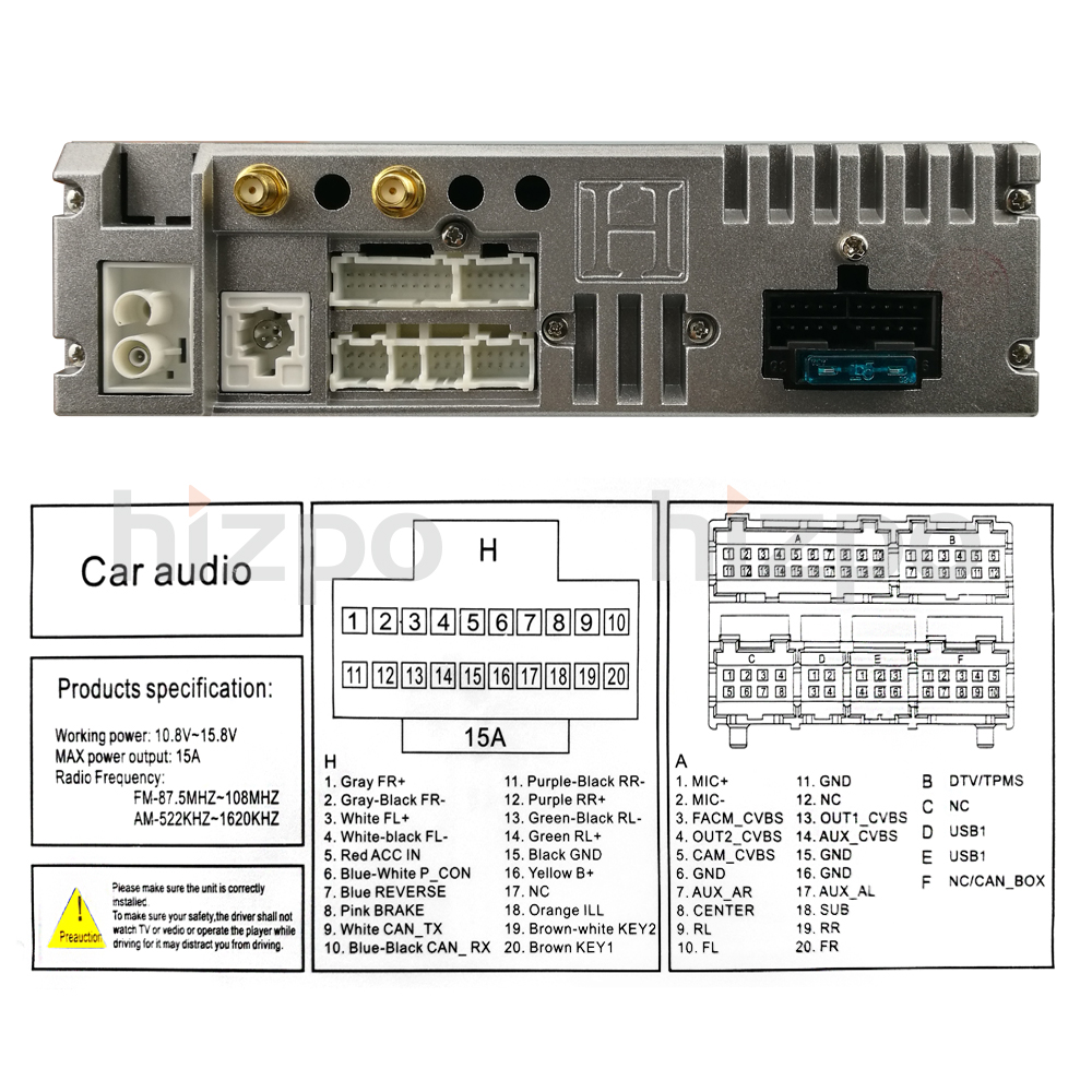 Android 71 Bmw X5 E39 9 Car Video Gps Stereo Player Dvr Head Unit Net O View Topic Reset Tool Circuit Diagram Please Check Power Supply Dc 12v Allowance Range 108 145v Max Current 10a Screen Size Inch