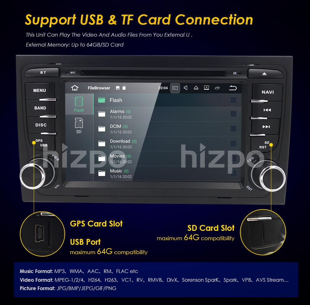 4G RAM Octa Core Android 8.0 SatNav DVD GPS for Audi A4 S4 RS4 8E RNS-E B7  8F B9 | eBay