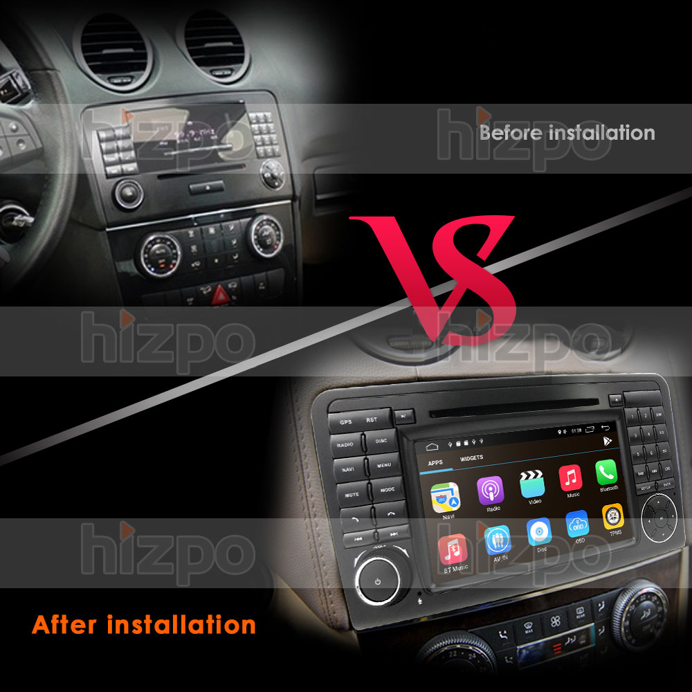 7 car gps navi for mercedes benz ml gl w164 ml300 ml350. Black Bedroom Furniture Sets. Home Design Ideas