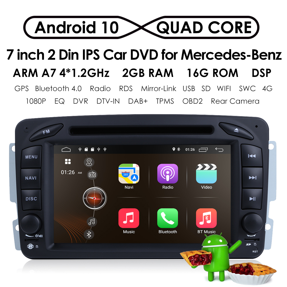 ... Array - 4 core android 7 1 car stereo dvd radio gps fit mercedes benz c
