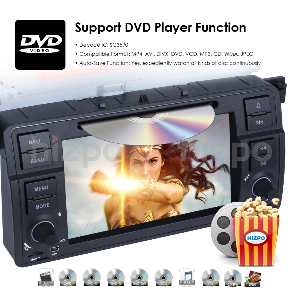 Details about Android 8 1 Car Radio DVD GPS Navi Unit 1 DIN Stereo for BMW  E46 318 320 325 2GB
