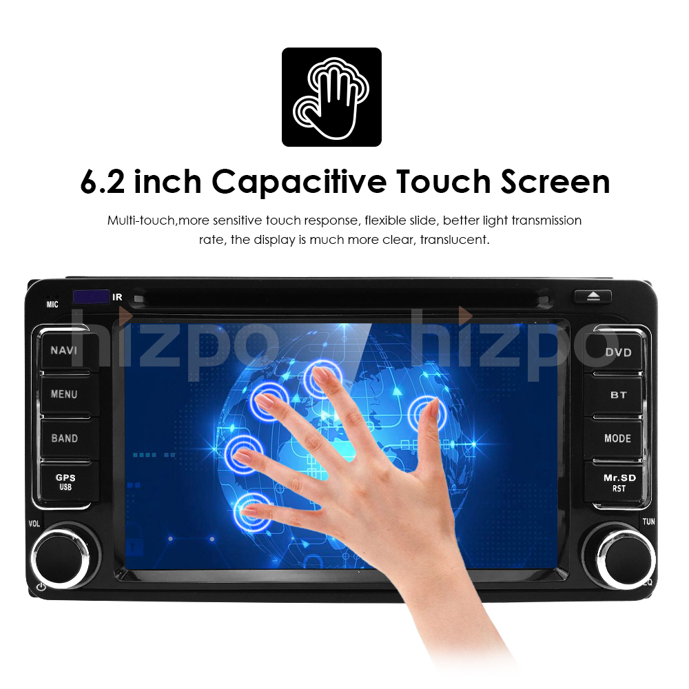 Android 8.1 Car Stereo 94 Core GPS Navigation MP5 Player for Toyota RAV4 2007-2012 Support Bluetooth//USB//Dab//DVR//TPMS//WiFi//AM//FM//AUX//Mirror Link