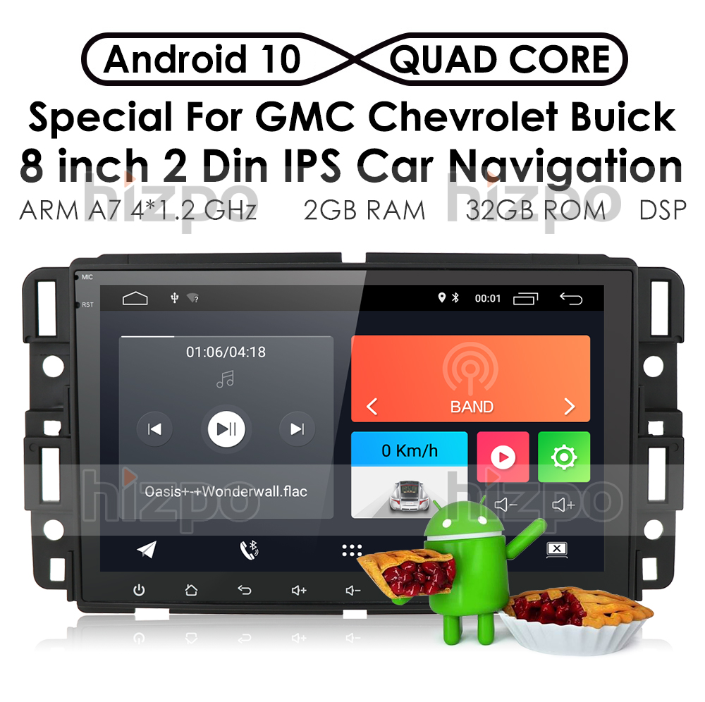 Android 10 8 Quot Car Radio Stereo Gps For Gmc Chevrolet Chevy