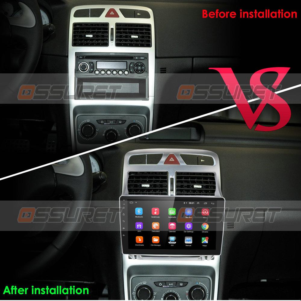 Android 10 Car Stereo GPS Navigation con Pantalla t/áctil de 9 Pulgadas Apta para Peugeot 307 307SW 2002-2013 Soporte Aodroid//iOS Mirror-Link FM Radio 307CC Caja Canbux no incluida