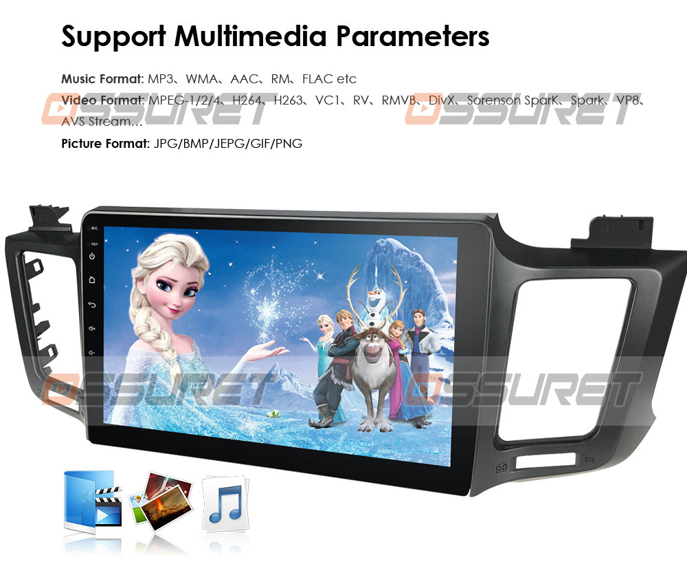 """In Dash Fit Toyota RAV4 2013-2017 10"""" Android Stereo Radio"""