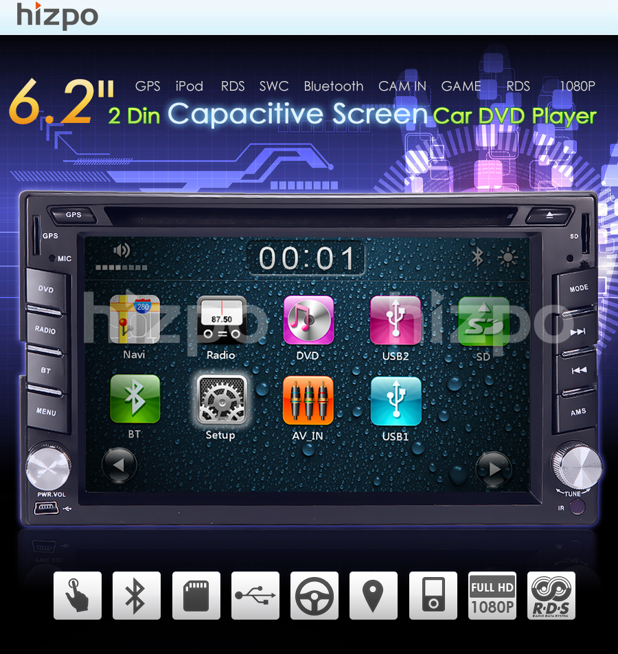 Gps double 2 din 62 in dash car dvd player radio stereo bluetooth store categories asfbconference2016 Gallery
