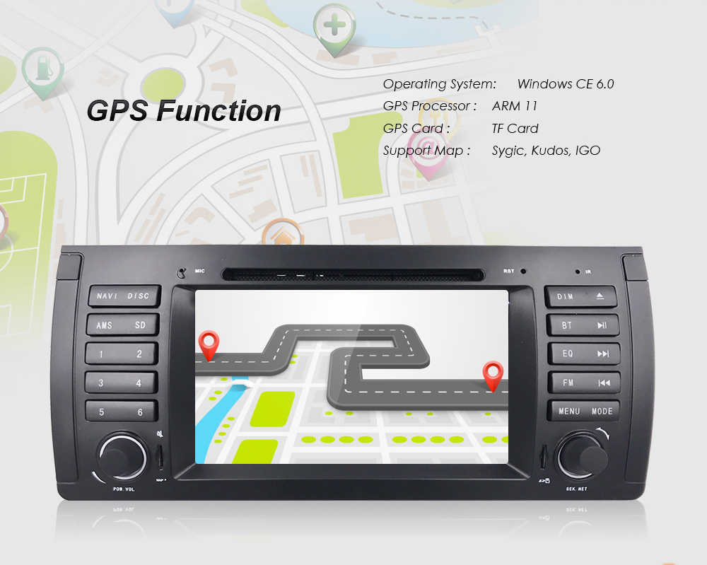 Details about Camera+ In-Dash Head Unit GPS Navigation Car DVD MP3 Radio  RDS for BMW X5-E53 o