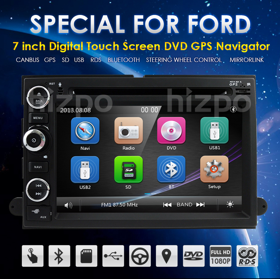 Ford In-Dash Car Stereo MP3 DVD Player GPS Navigation