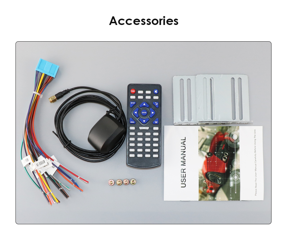 Details about HIZPO RQ030 GPS Navigation HD Double DIN Car Stereo DVD  Player BT Radio In Dash