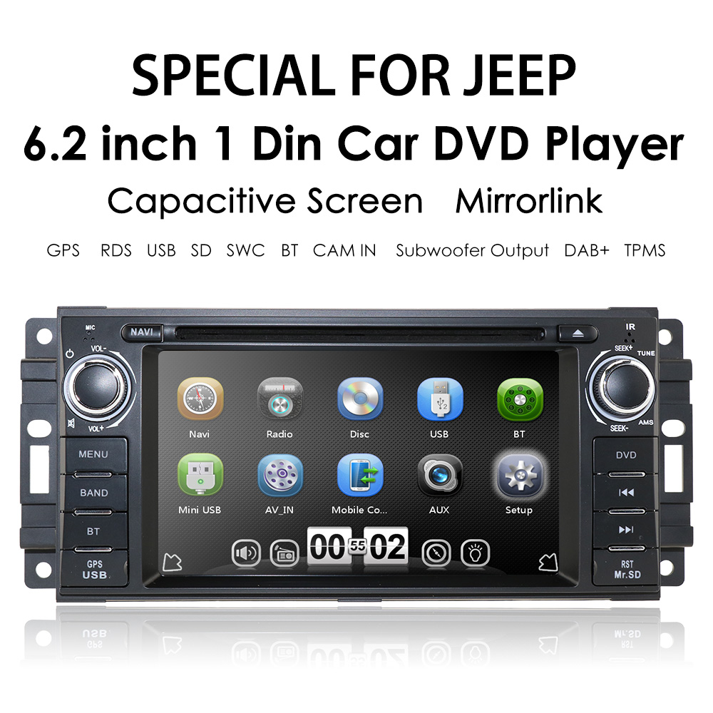 Details about Car Stereo DVD Player GPS Radio Touchscreen For Jeep Liberty  Dodge 8G map