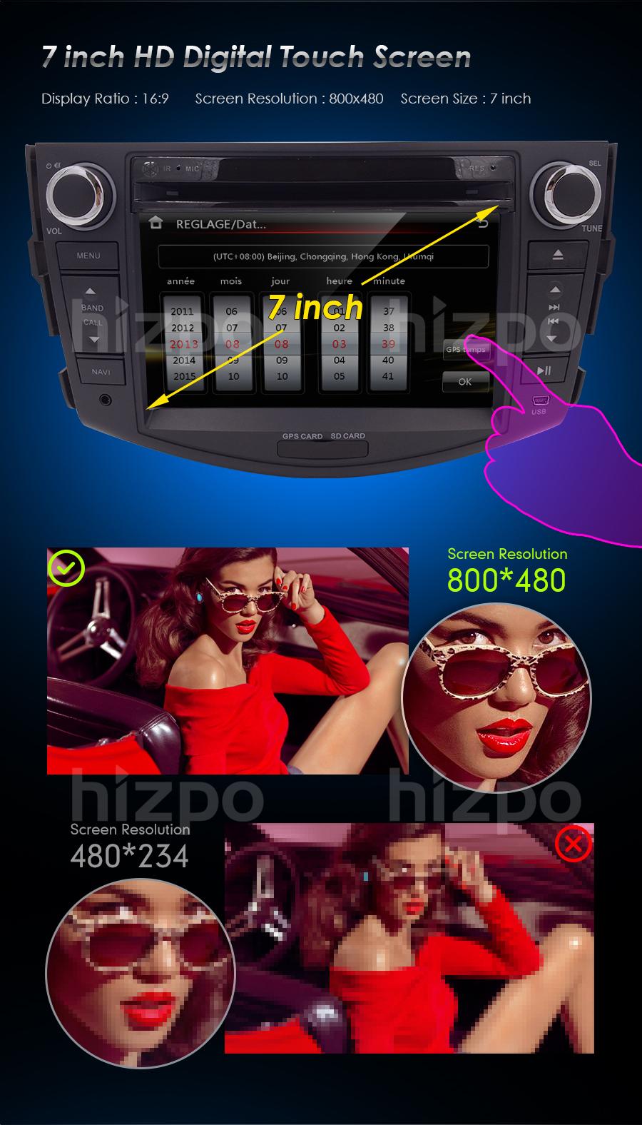 HIZPO 2006-2011 TOYOTA RAV4 Car CD DVD Player 2DIN GPS Navi Stereo Radio  Camera