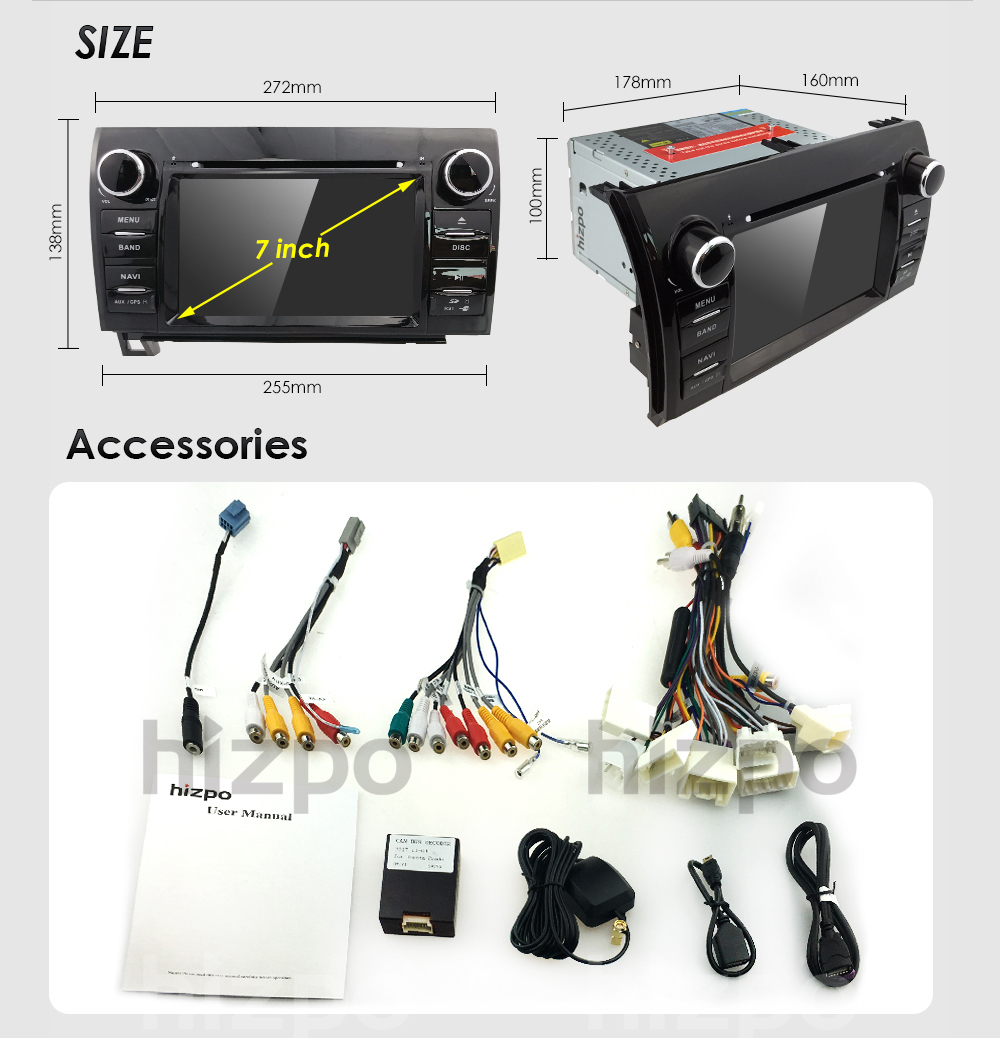 Fit toyota tundra sequoia in dash gps navigation car truck stereo power supply dc 12v allowance range 108 145v max current 10a button light colors 6 button light colors fandeluxe Image collections